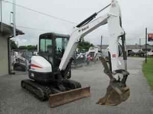 2014 Bobcat E35 Mini Excavator 728 Hrs Cab Ac heat 2 Speed X change Coupler