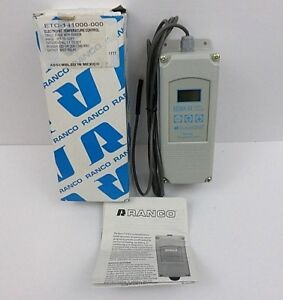 Ranco Etc 141000 000 Electronic Temperature Control 1 Stage Spdt Relay Nos Open