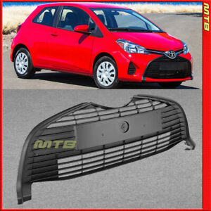 Matte Black Lower Front Grille For 15 18 Toyota Yaris Hatchback Bottom Center