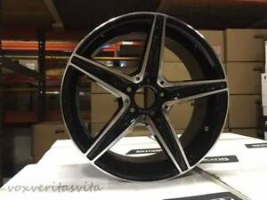18 C43 Amg Style Black Wheels Rims Fits Mercedes Benz W204 W205 C250 C300 C350