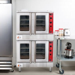 Double Deck Full Size Natural Gas Convection Oven With Legs 120 Volt