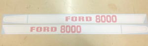 Ford 8000 Hood Decals