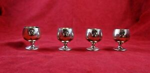 Set Of 4 Vintage Sterling Silver Cordials Made By Gorham 4742