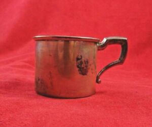 Vintage Web Sterling Silver Baby Cup W Gold Washed Inside 4746