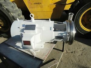 10 Hp 316 Stainless Steel Tri Clover Centrifugal Pump