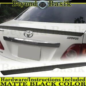For 2009 2010 Toyota Corolla Lip Jdm Factory Style Spoiler Wing Matte Black