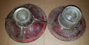 Vintage Pair 1964 Ford Galaxie Tail Brake Light Lens Sae R64 Fd