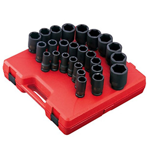 Sunex Tool 4693 26 Piece 3 4 Drive Metric Deep Impact Socket Set