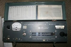 Serry Microline Frequency Meter Model 12l1 With Operating Instructions