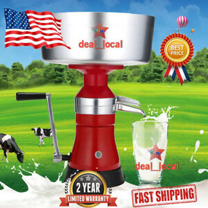 Milk Cream Manual Centrifugal Separator Machine 100l h Stainless Steel Quite Red