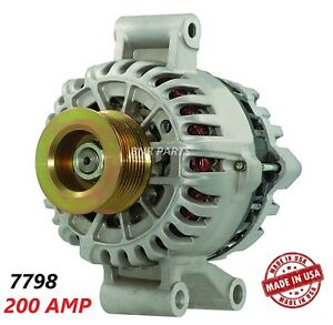 200 Amp 7798 Alternator Ford E Series Pickup 7 3l Aux Unit New High Output Hd