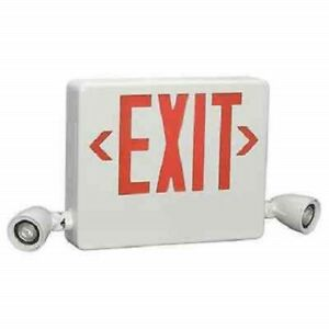 Hubbell Lighting Dual lite Exit Sign Emergency Lights Hcxurw 03l