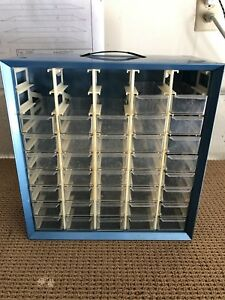 Vintage Akro mils 45 Drawer missing 8 Drawers Metal Storage Cabinet
