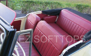 1948 52 Willys Jeepster Upholstery 3 Pleats Plus Armrest Covers