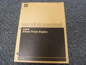 Caterpillar Cat 3208 Diesel Truck Engine Shop Service Repair Manual S n 2z1 up