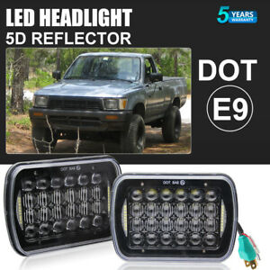 1pair 7x6 5x7 Led Sealed High low Drl Light Bulbs Headlights For Pickup Truck
