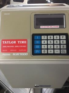 Amano Time Clock Mjr 7000 Electronic Recorder