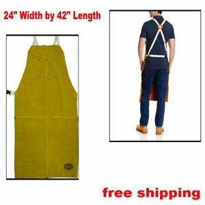 Leather Apron Specially Tanned Heat Resistance Protects From Spark 24 W X 42 L