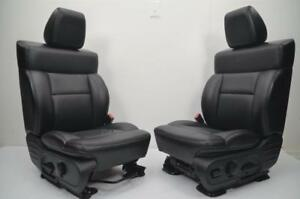 2004 2005 2006 2007 2008 Ford Lariat F150 F 150 Oem Front Black Leather Seats