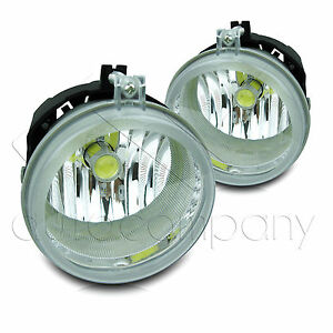 For 06 09 Dodge Charger Replacements Fog Lights W high Power Cob Led Bulbs