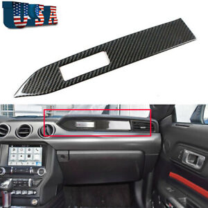1x Carbon Fiber Car Center Console Panel Dashboard Decal For 15 18 Ford Mustang