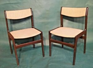 Pair Of Mid Century Modern Eames Style Rosewood Chairs
