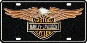 Harley Davidson Premium Reflective Eagle Novelty License Plate Tag