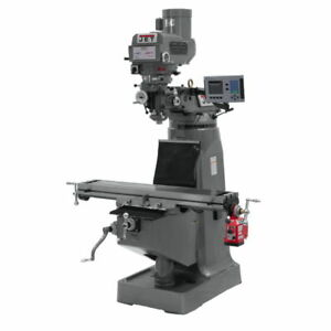 Jet 691411 Jtm 4vs 1 Mill 3 axis Acu rite 200s Dro X axis Powerfeed