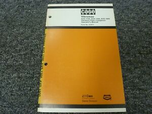 Case Vibromax Avs 1100 1300 1900 Vibratory Plate Compactor Owner Operator Manual