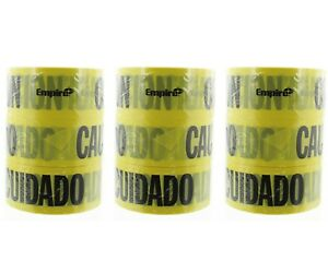 Lot Of 12 Empire Caution Cuidado Baricade Tape Spanish English 77 1002 1000 x 3