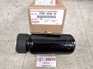 New Genuine Toyota Oem Black Chrome Exhaust Tip 05 19 Tacoma Free Priority Ship