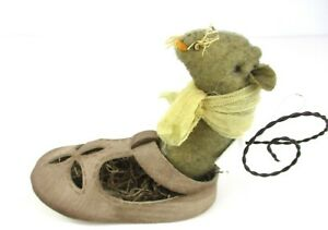 Pearsons Simply Primitives Mouse In A Child S Shoe Century Farm Mouse Nwt