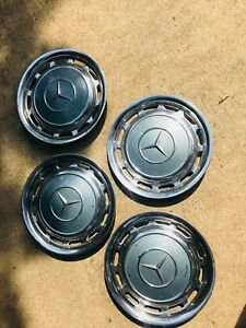 4 Mercedes Benz 1970s Hub Caps Rim Wheel Covers 14 220 230 280 300