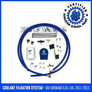 Coolant Filtration System Sinister Diesel For 2011 2015 Gm Duramax 6 6l Lml