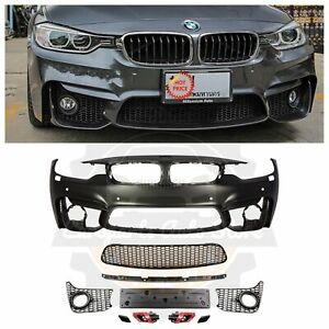 14 19 Bmw F32 F33 F36 4 Series M4 Style Front Bumper Kit Fog Light Version Pdc