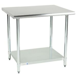 Commercial Kitchen Work Table Food Prep Nsf Stainless Steel 30 X 36 Undershelf