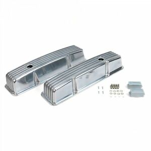 Vintage Tall Finned Valve Covers W Breather Holessmall Block Chevy Vpavcyaa