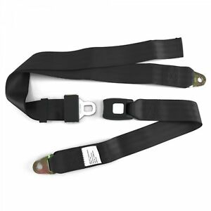 Real Usa Dot Certified Black Lap Seat Belt 2 Point With Dot Cert 75 Inch C Body