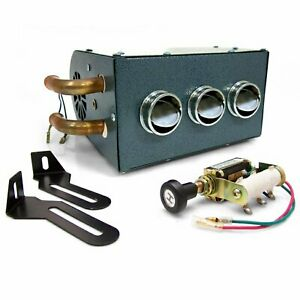 Gobi Compact Heater Deluxe Under Dash Kit 12v Truck Muscle Car Ford Gm Mopar