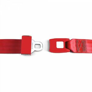 2pt Red Lap Seat Belt Standard Buckle Each Rd Hot Street Rod