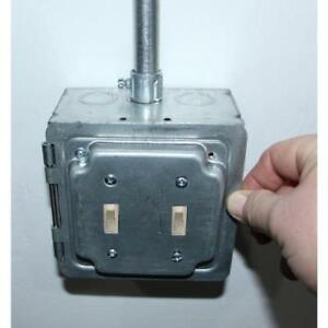 5 In Square Box With Hinged 2 Toggle Opening Industrial Cover Set Of 5