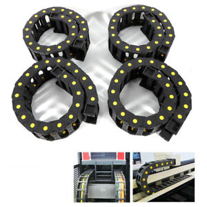 4x Black Nylon Pa66 Cable Drag Chain Wire Carrier 1000mm 40 Long Cnc Machine Us