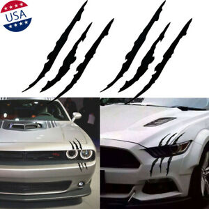 15 Monster Claw Scratch Decal Car Headlight Decor Vinyl Sticker For Ford Dodge