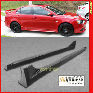 Left Right Side Skirts For Mitsubishi Lancer 2008 2017 Evo Style Rocker Molding