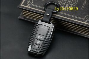 Carbon Fiber Car Remote Control Key Bag Shell Case Protect For Toyota Camry 2018