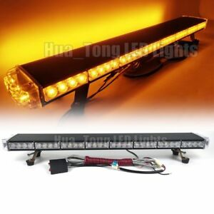 37 Led Lights Bar 70w Emergency Beacon Safety Warn Strobe Tow plow Truck Amber