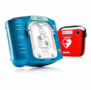 Philips Heartstart Home Aed Defibrillator With Slim Red Case Model M5068a c01