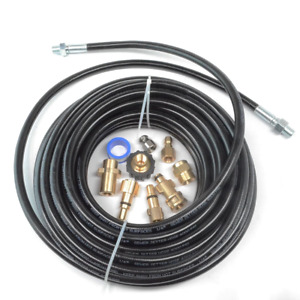 Sewer Line And Drain Jetter Kit 1 4 X 100 Hose With Sewer Nozzle
