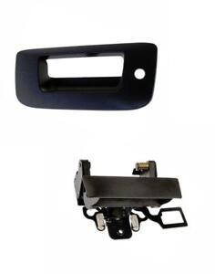 Tailgate Handle And Bezel For Chevy Silverado Sierra Truck 07 13 With Lock Hole
