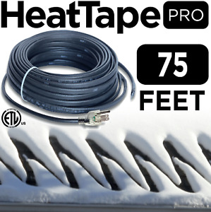 Heat Cable Commercial Plug in Self regulating Heat Tape For Roof 75ft 120v